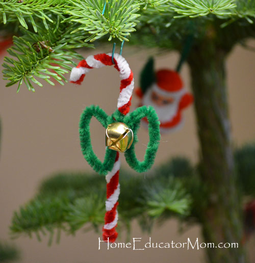 Easy Chenille Stem Candy Canes Candy Canes With Pipe Cleaners