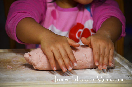 kneading-playdough