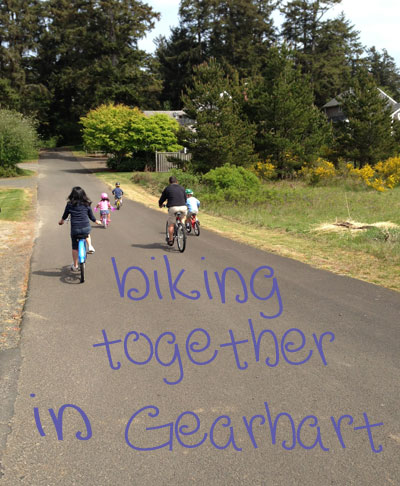 biking in Gearhart, Oregon