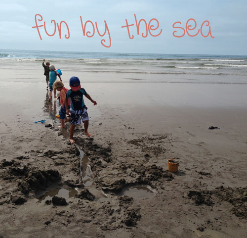 playing-by-the-sea in Gearhart, Oregon